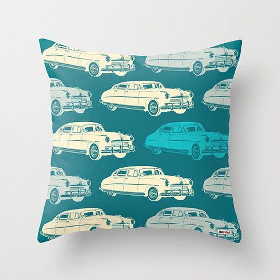Cars throw pillow cover - Decorative pillow - christmas gift ideas - Present for him - birthday gifts for boyfriend - cool gifts for guys