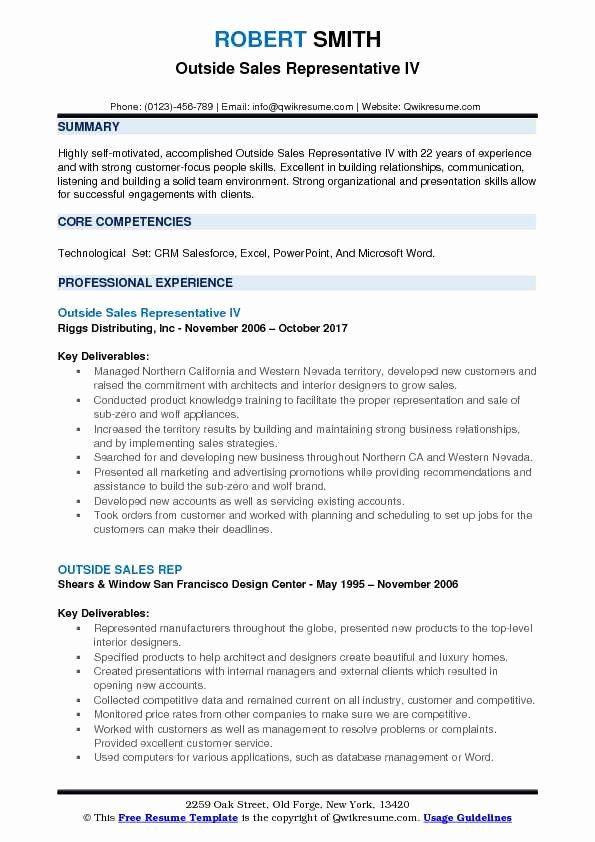 Sales Representative Job Description Resume Inspirational Outside Sales Rep Resume Samples In 2020 Home Health Aide Resume Examples Job Resume Examples