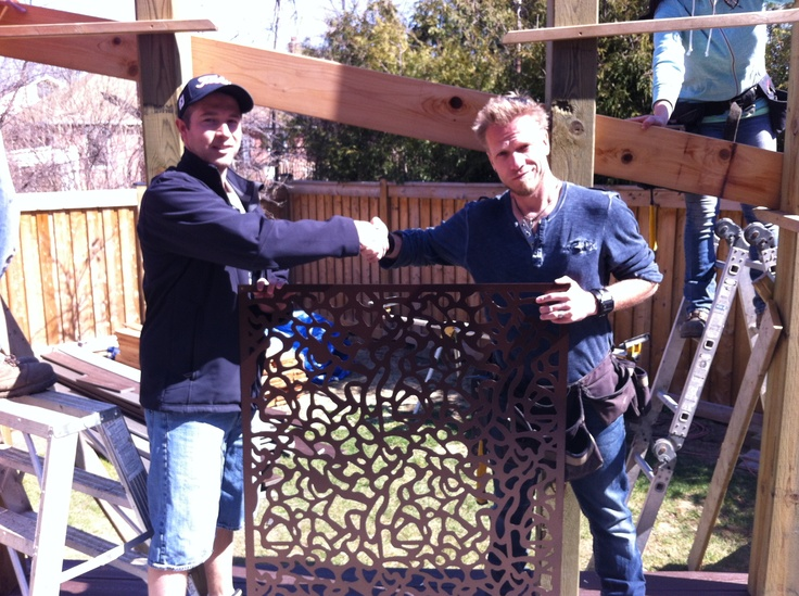 Paul Lafrance and I with a piece custom i designed and built for the TV show Decked Out. Stay tuned for the air date