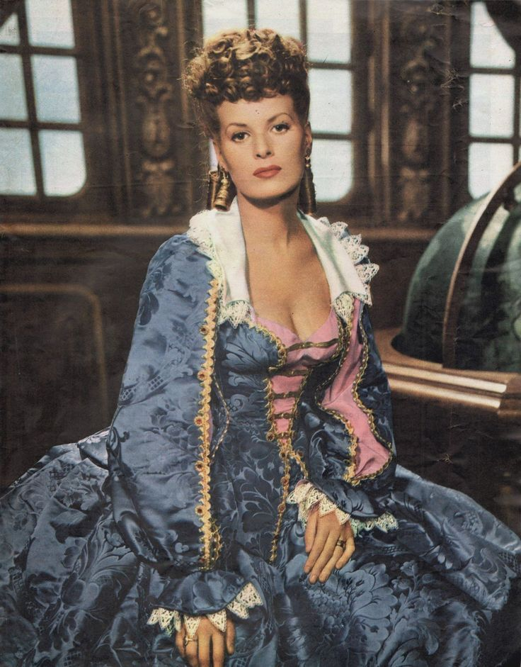 """Maureen O'Hara in """"The Black Swan"""" (1942). Costumes by Earl Luick"""