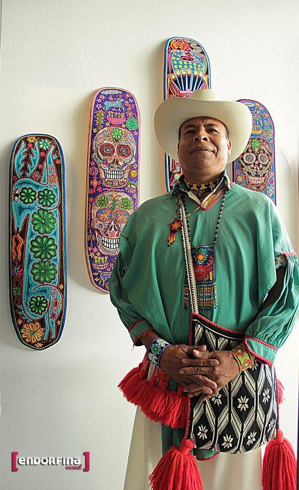 Huichol bead artist. Orgulloso!
