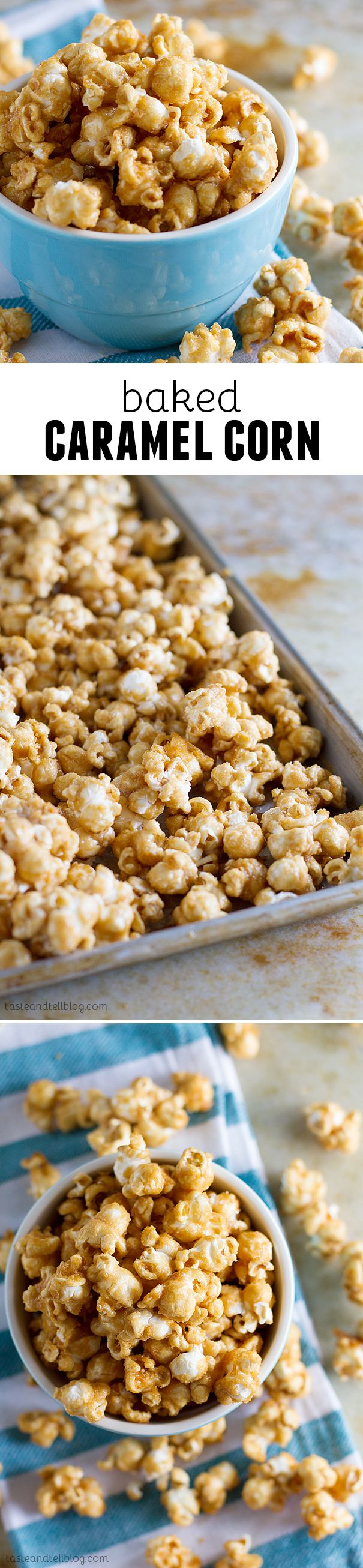Baked Caramel Corn- thought 6 quarts would last more than a day... I was wrong.