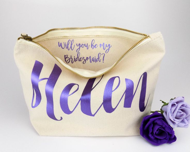 Personalised Bridesmaid Gift Make Up Bag Will You Be My Maid Of Honour