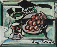 Zátiší s hroznem a pohárem, 1948