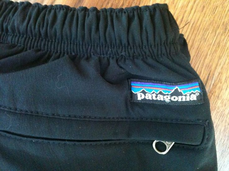 Vintage Patagonia outdoor Pants made in USA size M Black  Nylon poly hike camp…