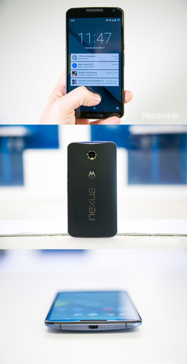 Google's new Nexus 6 smartphone.