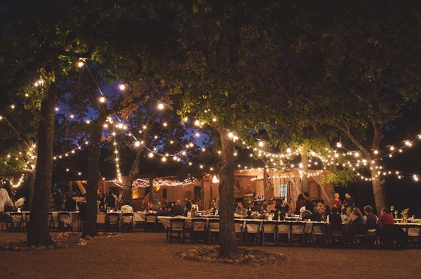 Outdoor Wedding - Fairy Lights In Trees