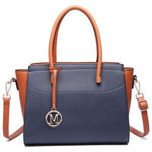 Modro-hnědá kabelka Miss Lulu Charlotte