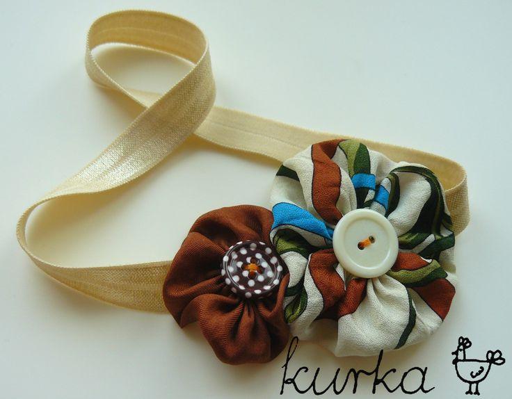 opaska handmade by kurka - turkus brąz