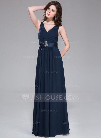 Evening Dresses - $119.99 - A-Line/Princess V-neck Floor-Length Chiffon Charmeuse Evening Dress With Ruffle Beading Sequins (007037324) http://jjshouse.com/A-Line-Princess-V-Neck-Floor-Length-Chiffon-Charmeuse-Evening-Dress-With-Ruffle-Beading-Sequins-007037324-g37324