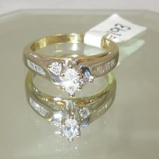 14K Yellow Gold Ring With 15=.53ct Natural Diamonds Great Anniversary Gift
