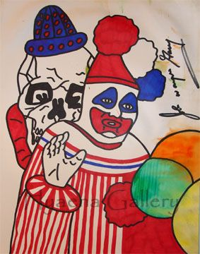 John Wayne Gacy Art | John Wayne Gacy's Pogo and Clown Skull
