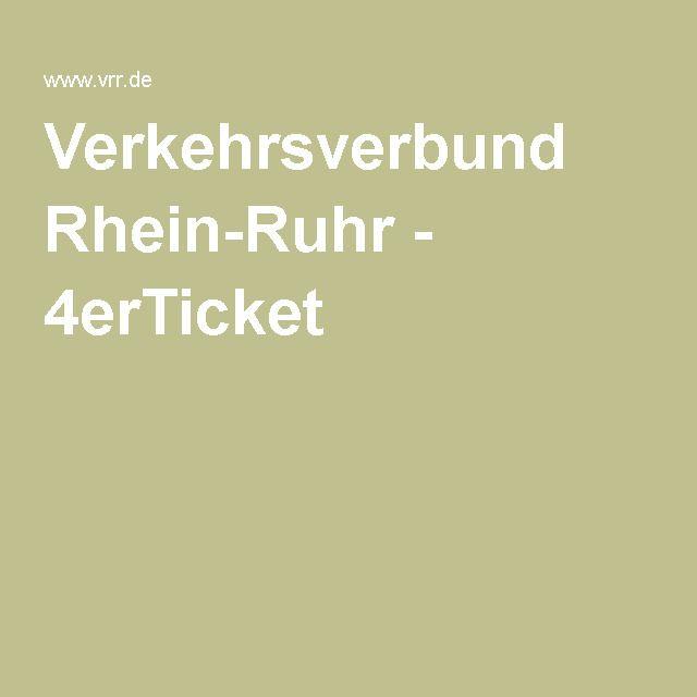 Verkehrsverbund Rhein-Ruhr - 4erTicket