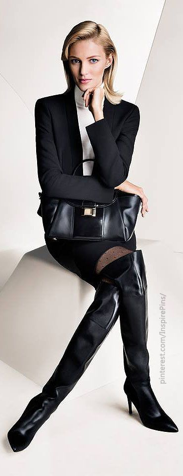 Hugo Boss FW2013 ~  the boots would work for me (at work) with the suit if they were a different length :)