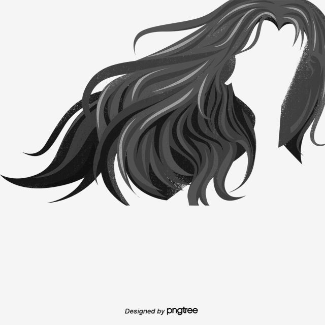 Black And White Vector Long Hair Long Curly Hair Ladies Hair Long Hair Styling Png Transparent Clipart Image And Psd File For Free Download Long Hair Styles Grow Thick Long Hair