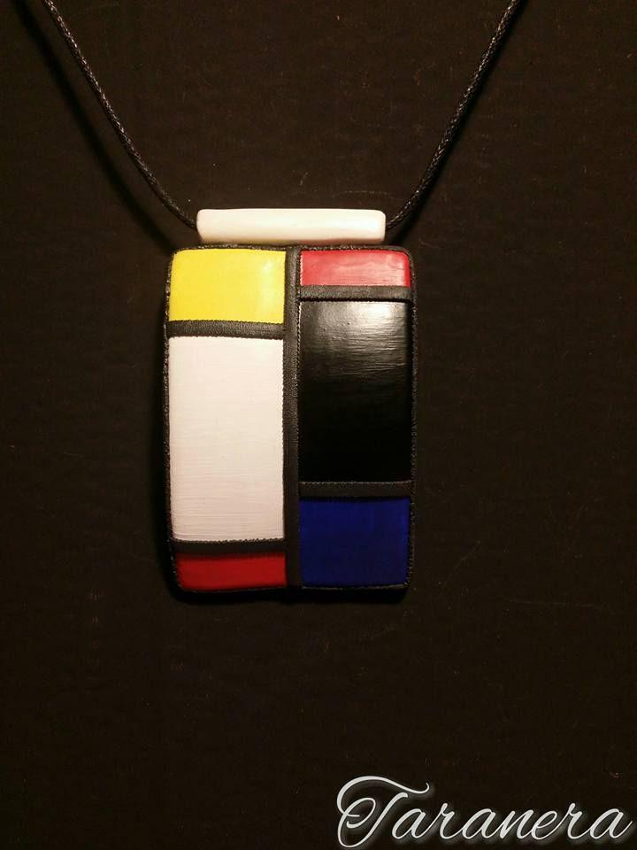 Ispirato da Piet Mondrian Porcellana fredda (pasta di mais)