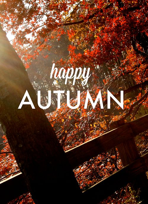 I am so happy! :)  The smell in the air today, the leaves blowing across the street, the cool night air. :) bliss.