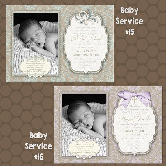 Stillborn, Infant Loss, Angel Baby, Memorial Service, Funeral Program, Birth Announcement, Printable, Uprint, Digital, Printed, 25+ DESIGNS by KDesigns2006