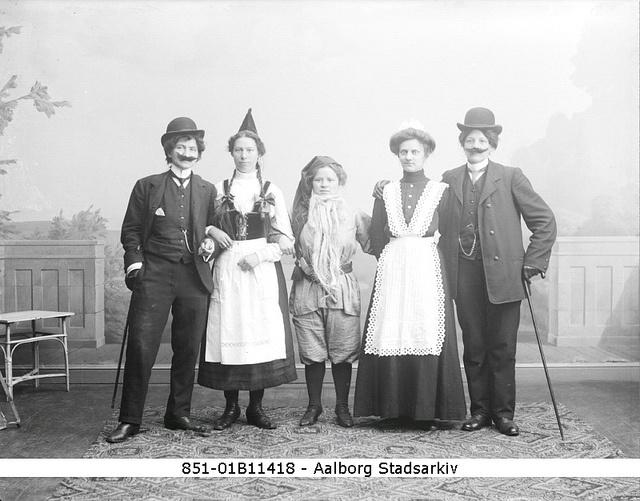 Carnival in Aalborg 1912 by Aalborg Stadsarkiv, via Flickr