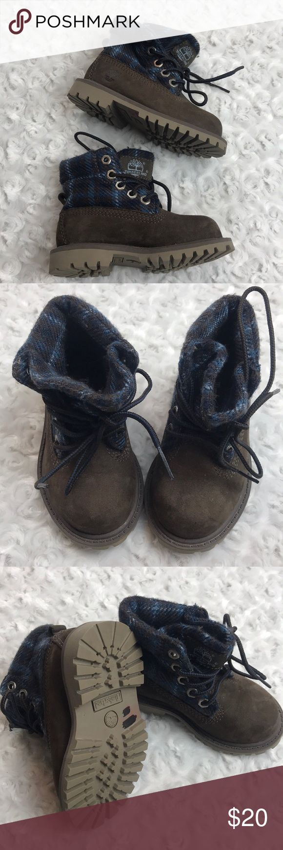 Size 5 toddler timberland boots brown flannel Very good condition Timberland Shoes Boots