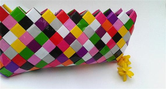 Colorful ClutchCandy  wrapper  bag by colorfulconcept on Etsy, $30.00