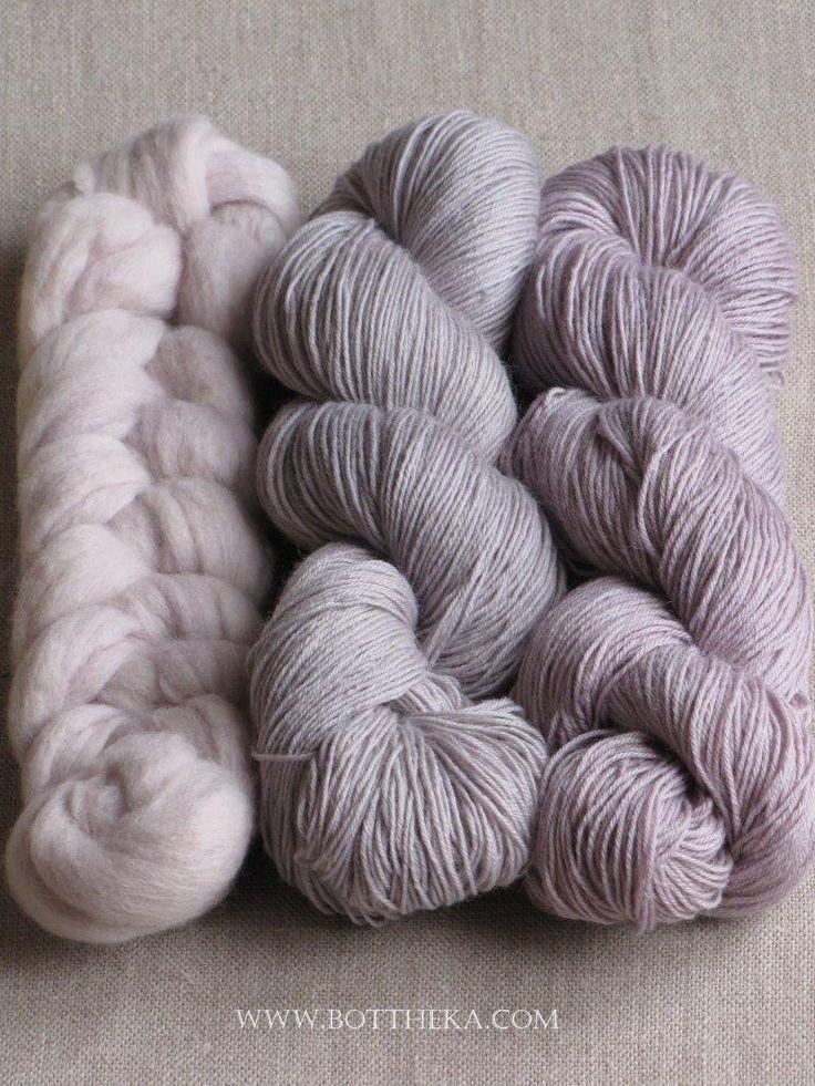 Lilac colors wool & yarn http://bottheka.com/en/prunus-spinosa