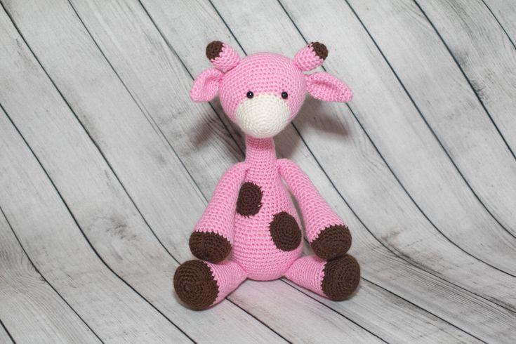Giraffe Toy/Pink Giraffe Toy/Crocheted Stuffed Giraffe Toys/Baby Girl Gifts/Handmade Toys/Zoo Animals/Baby Room Decor/Crochet Amigurumi by Mandyscrochetshop on Etsy
