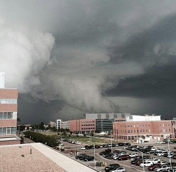 Recent tornado in Denver, Colorado