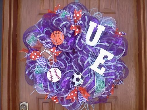 University Of Evansville Sports Wreath Soccer Football BaseballI Am Still Trying To Find Dance Poms Or A Cheer Megaphone Add It