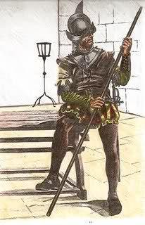 Los Tercios Españoles | Los Tercios mantenían su enorme moral de combate mediante un implícito apoyo de la religión en campaña. Su mejor general, Alejandro Farnesio, no dudaba por ejemplo en hacer arrodillar día a día a sus soldados antes de combatir para rezar el Avemaría o una prédica a Santiago, patrón de España.
