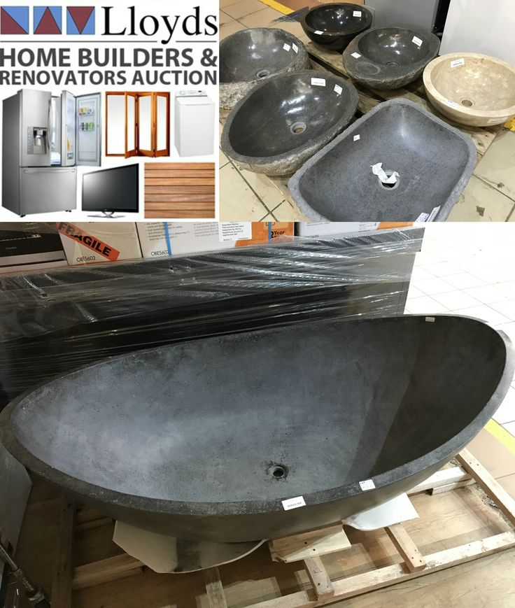 Building a new bathroom? Make it one of a kind with these beautiful stone bathtubs & basins AVAILABE NOW in our Home Builders and REnovators auction! BID NOW