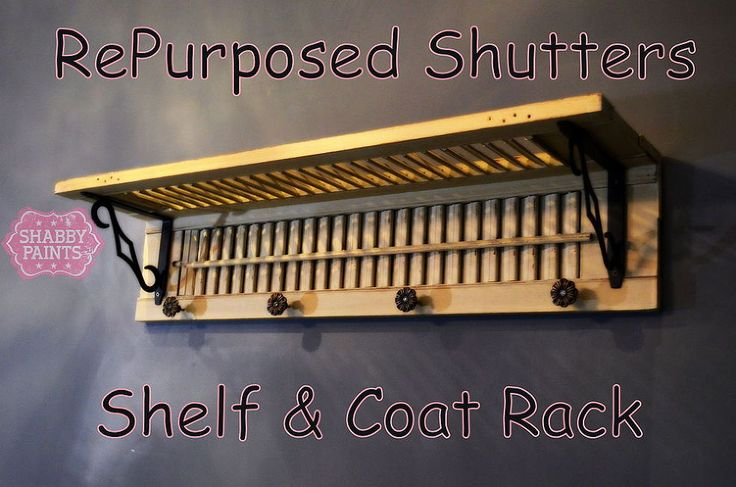 Repurposed Shutters - Looking for a way to repurpose your old shutters? Well after tripping over these for months I finally had my lightbulb moment. Coat Rack (…