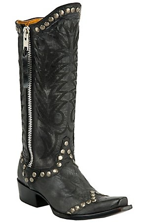 You can buy these at Redford Ranch: Cowgirl Boots, Snip Toe, Gringo Lady, When Westerns, Westerns Boots, Cowboys Boots, Cavend Boots, Boots Cities, Black Studs