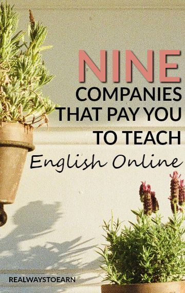 Here's a list of 9 companies that will pay you to teach English online. Repinned by Chesapeake College Adult Ed. Free classes on the Eastern Shore of MD to help you earn your GED - H.S. Diploma or Learn English (ESL). www.Chesapeake.edu