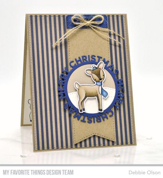 Briefmarken: Dashing Deer | Die-namics: A2 Genähtes Rechteck STAX, Dashing Deer, Mer …   – MFT Christmas Cards & Gifts