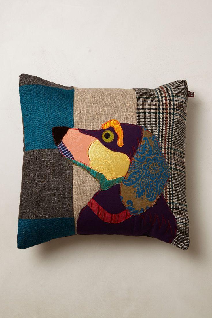 Patchwork Hound Pillow - Anthropologie.com