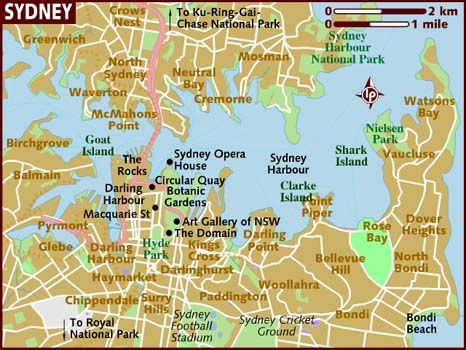 Map of Sydney with areas & points of interest | Australia ...