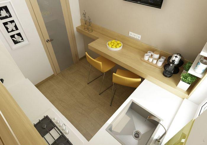 Маленькая кухня с простым дизайном на 4-6 м2. кухня, дизайн интерьера, ремонт…
