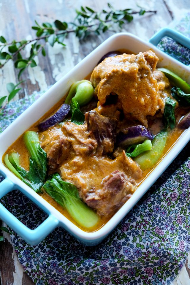 [Kare Kare Oxtail] + Click For Recipe!  #easy #recipes #filipino