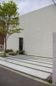 オープンエクステリア施工事例 / エクステリア、建築、白、壁、モダン