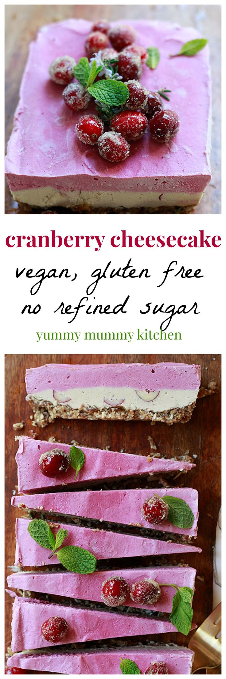 This gorgeous vegan cheesecake recipe is made out of dates and nuts. It's so easy and our family devoured it in one day. We love it frozen like an ice cream pie.
