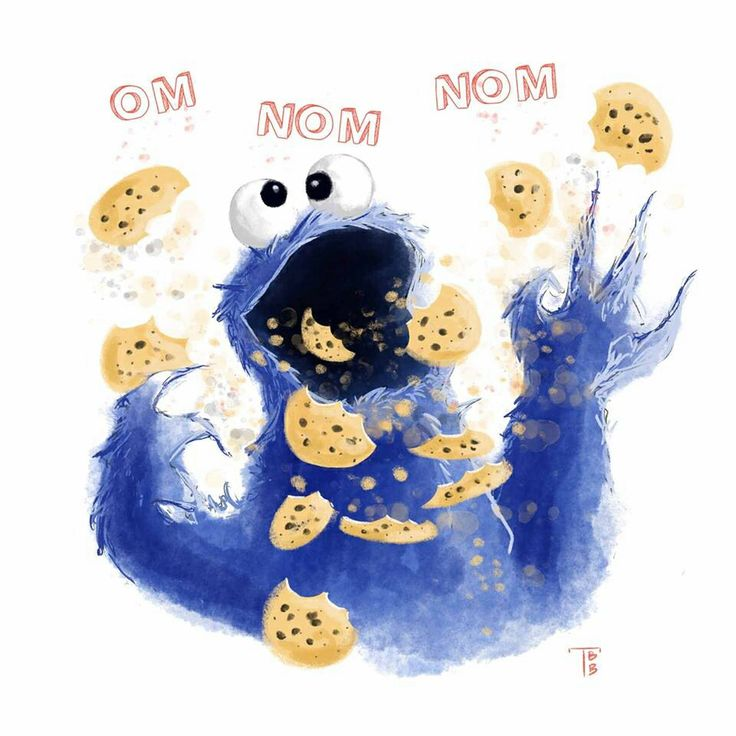 how to draw cookie monster head
