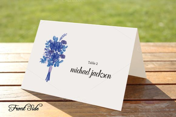 Wedding Place Card Template @creativework247
