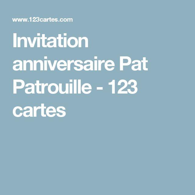 Invitation anniversaire Pat Patrouille - 123 cartes