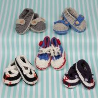 Stylish baby booties for little boys