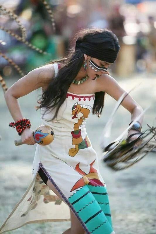 Ff C C E A E Ecb A B on Aztec Dance Headdress