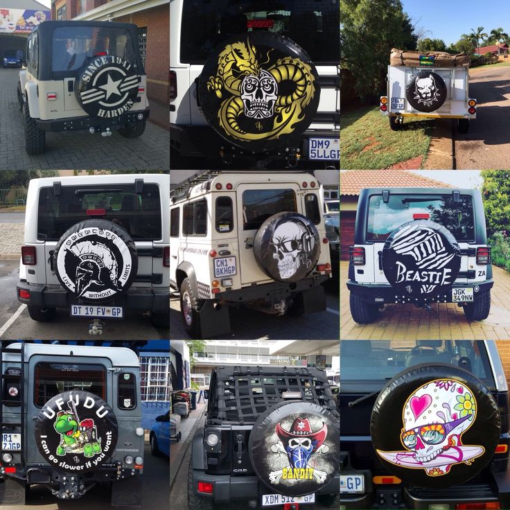 Spare wheel and tyre covers from www.angelsanddemons.co.za