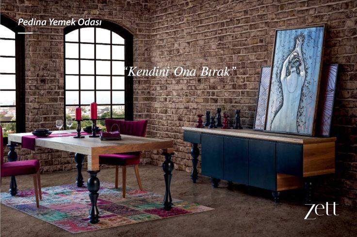Ahşabın doğal sıcaklığını beyazın saflığı ile buluşturan Pedina Yemek Odası, özel tasarım ayakları, lüks kadife sandalyeleri ve farklı modül seçenekleri ile davetkar bir atmosfer yaratıyor. www.zettdekor.com #Zett #Zettdekor #Mobilya #Dekorasyon #Aksesuar