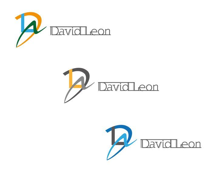 Logo David León - Color - Construcción- Diagramación – Bocetos (Identidad Visual - David León Diseñador Gráfico)