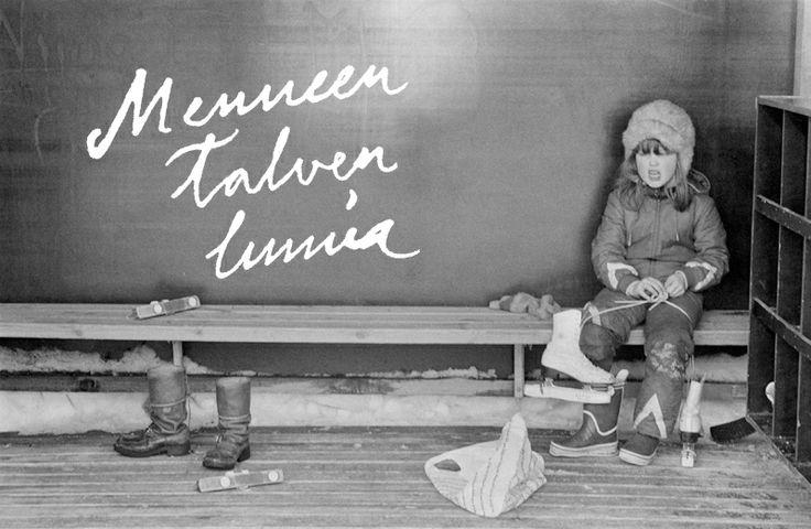Luistimet jalkaan ja menoksi! Tullinpuomin leikkipuiston luistinrata, 1982.